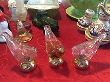 Vintage Avon 1970s 3 Song Bird Perfume Bottle with Gold Tone Base
