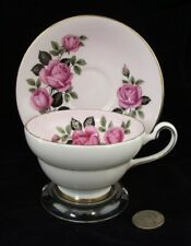OLD ROYAL PINK WITH ROSE   CABINET TEA CUP AND SAUCER