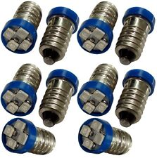 10x ampoules E10 4LED SMD 24V lumière bleue