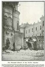 WW1 Damaged Church Of The 12 Apostles North Of Uspenskiy Sobor Kremlin