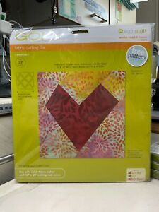 """Accuquilt GO! Wonky Heart-6"""" Finished Die (55471)"""