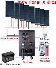 New 2KW Solar Power Generator System for 110v/220v Home Use Shipped By Sea