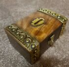 Vintage Inspired Wooden Money Bank with Brass Accents Money Box for Kids