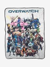 Brand New In Packet w/ Tags Overwatch Cast Group Soft Fleece Throw Blanket 45x60