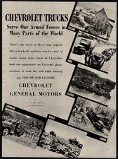 1943 CHEVROLET Trucks - Iceland - Alaska - Burma - Africa - Military VINTAGE AD