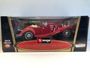 1/18 BURAGO Voiture Miniature MERCEDES-BENZ 500 K ROADSTER 1936