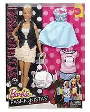 Barbie Fashionistas Doll No 44 Leather & Ruffles & Fashions - Tall - DTF07 - NEW