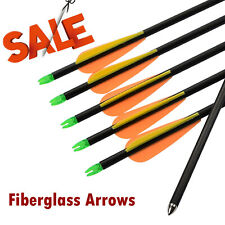 Fiberglass Arrow with Bullet Point Archery Compound Bow Target Shooting 6X 30""