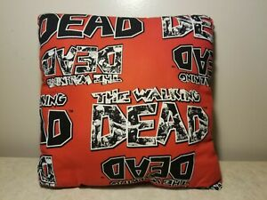The Walking Dead Zombies Small Handmade Throw Pillow