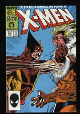 X-Men #222 NM+ 9.6 )Sabertooth Battle)
