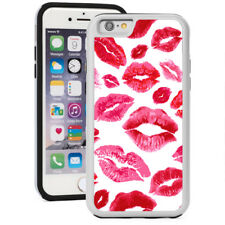 For iPhone X SE 5s 6 6s 7 8 Plus Shockproof Hard Soft Case 30 Red Lips Kisses