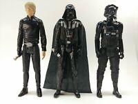 "Star Wars Action Figure Lot Luke Skywalker, Darth Vader, Tie Fighter Pilot 11"""