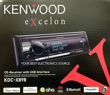 NEW KENWOOD KDC-X898 Single DIN In-Dash CD/MP3/WMAUSB Receiver with Bluetooth