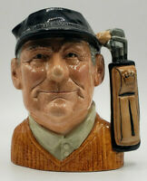 Vtg ROYAL DOULTON Large Golfer Toby Mug Statue 6623 Signed David B. Biggs 1970c