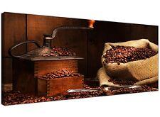 Brown Cheap Canvas Print of Coffee Beans  - 120cm x 50cm - 1062