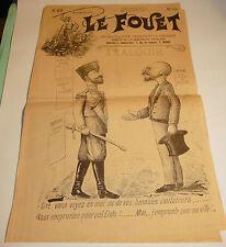 1896 n°26 ancien journal de Beziers le fouet caricature politique tres rare