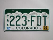 AUTHENTIC 2002 COLORADO LICENSE PLATE
