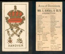 """1888 N181 WM. S. KIMBALL & CO. ARMS OF DOMINIONS """" HANOVER """"    957"""