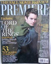 Premiere Magazine Lord Of The Rings Elijah Wood Lotr Sept 2001 Swank Lacombe