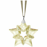 2019 Authentic Swarovski SCS LITTLE STAR GOLD ORNAMENT SNOWFLAKE CRYSTAL 5476002