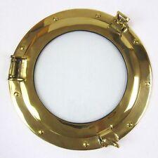 """11"""" Brass Porthole Window ~ Brass Porthole ~ Ship Porthole ~ Nautical Decor"""