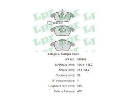 Serie Pastiglie Freno Audi A3 Anteriori con spia 05P866