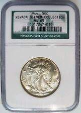 1944 Walking Liberty Half Dollar NGC MS 65 Nevada Silver Collection Hoard Coin