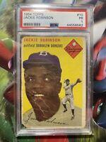 Jackie Robinson 1954 Topps Vintage Baseball Card #10 PSA 1 Dodgers