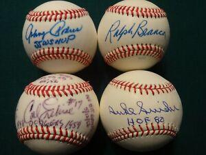 Brooklyn Dodgers SNIDER Podres Erskine Branca signed baseballs &  6 signed cards