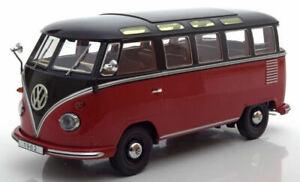 Volkswagen VW T1 Samba Bus 1959 Dark Rouge / Black 1:18 Model Kk Scale