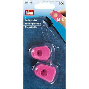 PRYM SILICONE THIMBLE NEEDLE GRABBERS PINK, M & L set of 2 - FOR SEWING - 611103
