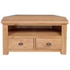 Ashley Oak Corner TV Unit / Solid Hardwood / Media Unit / Living Room / Sawn