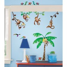 New 41 MONKEY BUSINESS Wall Decals Kids Bedroom Stickers Baby Nursery Room Decor