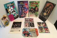 Old Lot Of 9 Hockey Card Box Bottom And Top Cut Outs Gretzky Lemieux Hull Bure