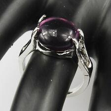Amethyst Gemstone Fashion  Jewelry 925 Silver Men Women Ring Size 10