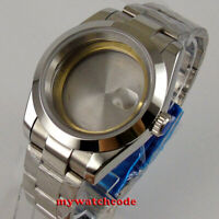 40mm cyclops sapphire glass steel Watch Case fit ETA 2824 2836 8215 MOVEMENT
