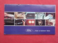 sales brochure FORD 1967 MUSTANG THUNDERBIRD FALCON FAIRLANE MERCURY LINCOLN ...