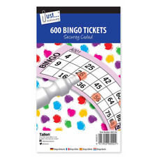 Jumbo Bingo Book Pad 600 Games Coded Tickets 6 to View Various Colours New