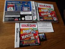 Monopoly / Boggle / Yahtzee / Battleship (Nintendo DS, 2006) Hasbro