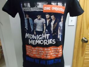 ONE DIRECTION CONCERT T-SHIRT 2014 WHERE WE ARE TOUR SMALL HARRY STYLES NIALL