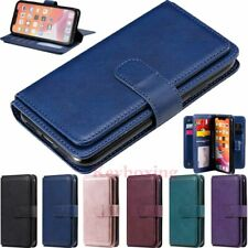 10 Card Holder Wallet Leather Case Cover For iPhone 11 Pro Max XS XR 6s 7 8 SE 2
