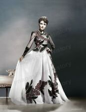 8x10 Print Gene Tierney Colorized Fashion Portrait Dress by Oleg Cassini #GTAT