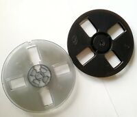 2pcs 7'' Empty Reel Spool for Recording Tape, Black and Transparent,Vintage,Rare