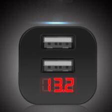 5V Dual USB Charger Cigarette Lighter Car Voltmeter Voltage Gauge Meter Monitor#