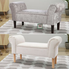 Fabric Velvet Bed End Chair Chaise Lounge Sofa Window Seat Bench Fireside Stool