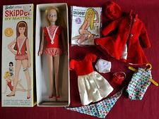 Vintage 1963 Mattel Blonde Straight Leg Skipper Doll w/ Box, Hand Tag, + Extras