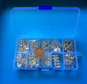 Jewellery making findings & spacer beads 3 small plastic boxes job lot, bargain!