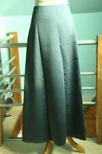 Vera Wang Pewter Satin A-Line Floor Length skirt - Size 6