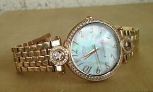 Ecclissi 2.50 ct tw Morganite And White Zircon MOP Stainless Watch New Battery