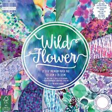 First Edition Wild Flower 6x6 Full Paper Pad - 64 Sheets Watercolour Florals
